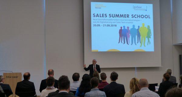 gwSaar und htw saar veranstalten Sales Summer School