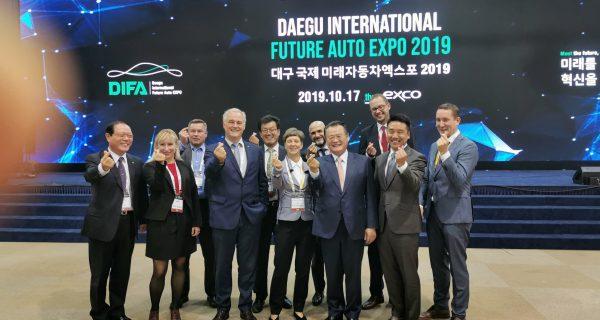 Saar delegation on return visit to Korea