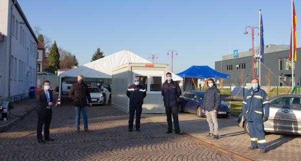 Deutsch-französisches Corona-Testzentrum mit der LEG Service