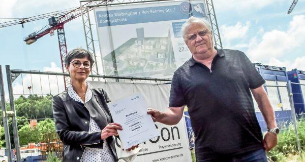 Das Land fördert sozial gebundene Wohnungen beim WOGE-Projekt Warburgring in Homburg
